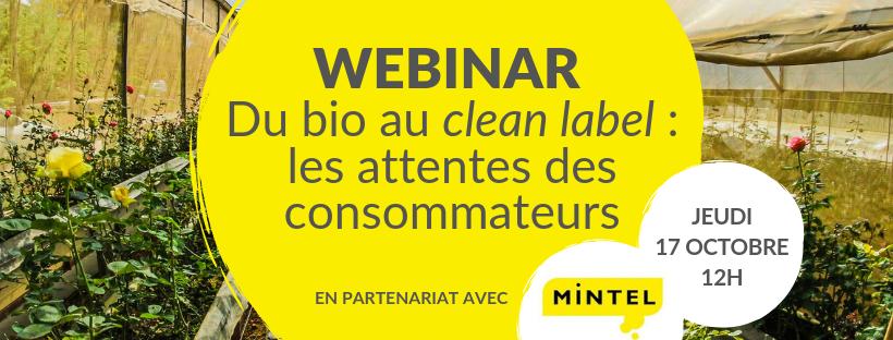 Webinar - Du bio au clean label : les attentes des consommateurs